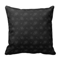 Black Love Hearts Throw Pillow