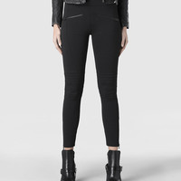 Womens Rockie Biker Leggings (Black) | ALLSAINTS.com