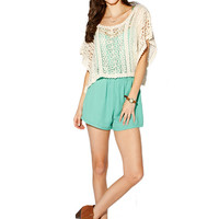 Papaya Clothing Online :: BOHEMIAN LACY KNIT TOP