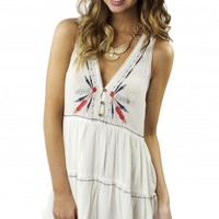 Boho Embroidered Tank Dress