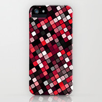 Pixel Grid Abstract Pattern iPhone & iPod Case by Danflcreativo