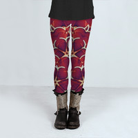 Ornament Modern Pattern with Flowers Motif by Daniel Ferreira-Leites (Leggings)