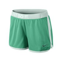 "The Nike Icon Mesh 3.5"" Women's Training Shorts."