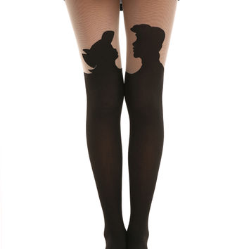 Disney The Little Mermaid Silhouette Tights
