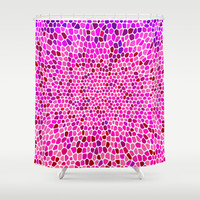 THINK PINK Shower Curtain by Catspaws