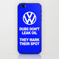 VW Mark the Spot iPhone & iPod Skin by Alice Gosling