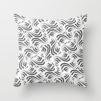 Abstract Pattern 1 Throw Pillow by mollykd