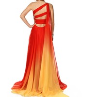 Pre-Order Morilia- OrangeYellow Long Prom Dress