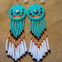 exquisite Turquoise green earrings