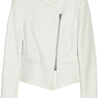 L'Agence Coated cotton-blend tweed jacket – 50% at THE OUTNET.COM