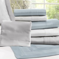 ITALIAN 600-THREAD COUNT SATEEN SATIN CALIFORNIA KING SHEET SET