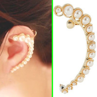 Beauty Of Pearl Wrapping Ear Cuff (Single, No Piercing)