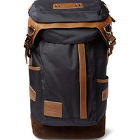 Master-Piece - Potential Leather and Suede-Trimmed Nylon Backpack | MR PORTER