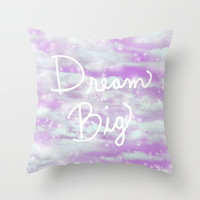 Dream Big - Lavender Throw Pillow by Lisa Argyropoulos