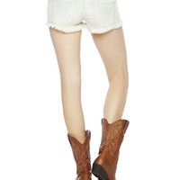 Crochet Trim Frayed Short | Wet Seal