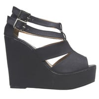 Strappy Platform Wedge Shoes | Wet Seal