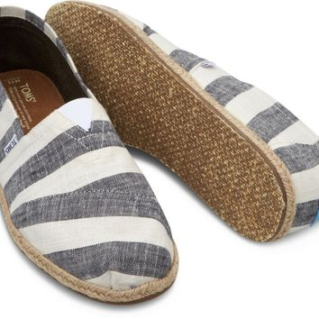 Black and White Stripe Men's Canvas Classics
