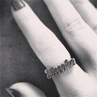 WARRIOR NAMEPLATE RING