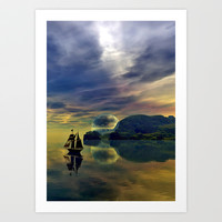 Reflection Bay Art Print by Sandra Bauser Digital Art