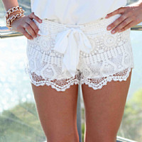 ONE FINE DAY LACE SHORTS , DRESSES, TOPS, BOTTOMS, JACKETS & JUMPERS, ACCESSORIES, 50% OFF SALE, PRE ORDER, NEW ARRIVALS, PLAYSUIT, COLOUR, GIFT VOUCHER,,SHORTS,White,LACE,MINI Australia, Queensland, Brisbane