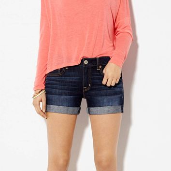 AE DENIM BOYFIT MIDI SHORT
