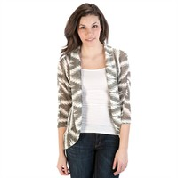 Eyeshadow Juniors Tribal Dolman Cocoon Cardigan at Von Maur