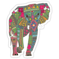 painted elephant straw