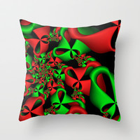 Christmas Ribbons Throw Pillow by Sandra Bauser Digital Art