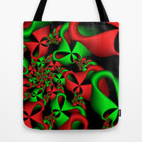 Christmas Ribbons Tote Bag by Sandra Bauser Digital Art