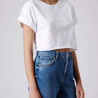 Roll Back Crop Tee