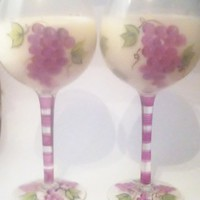Glass Wine Soy Candles(Optional Scent) | UniqueCandleBoutique - Candles on ArtFire