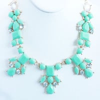 Mint Stone Princess Necklace Set
