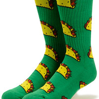 Odd Future Taco Green Crew Socks