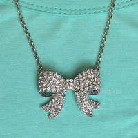 Arabella Crystal Bow Necklace