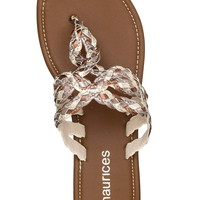 Arelia braided metallic sandal