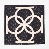 Dot Silk Square Scarf