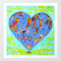 FURRY LOVE Art Print by Adka