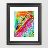 HAPPY WHEELS Framed Art Print by Adka