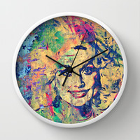 """HELLO DOLLY"" Wall Clock by The Griffin Passant"