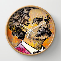 MARK TWAIN Wall Clock by The Griffin Passant