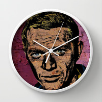 """The King of Cool""-2 Wall Clock by The Griffin Passant"