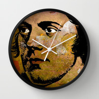 ROBERT BURNS Wall Clock by The Griffin Passant