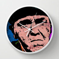 Moe Howard (Pop) Wall Clock by The Griffin Passant