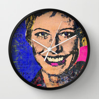 Susan Schoenberg-B Wall Clock by The Griffin Passant