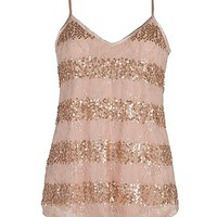 BKE Lace Overlay Tank Top