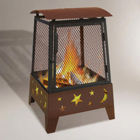 Tall Stars & Moons Fire Pit