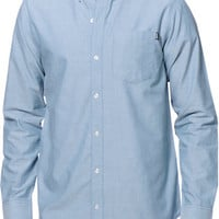 Dravus Brendan Blue Long Sleeve Button Up Shirt