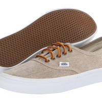 Vans Authentic™ Slim (Washed Canvas) Cream/True White - Zappos.com Free Shipping BOTH Ways