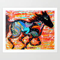 RUNNING MUSE Art Print by Adka