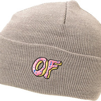 Odd Future OF Donut Grey Fold Beanie